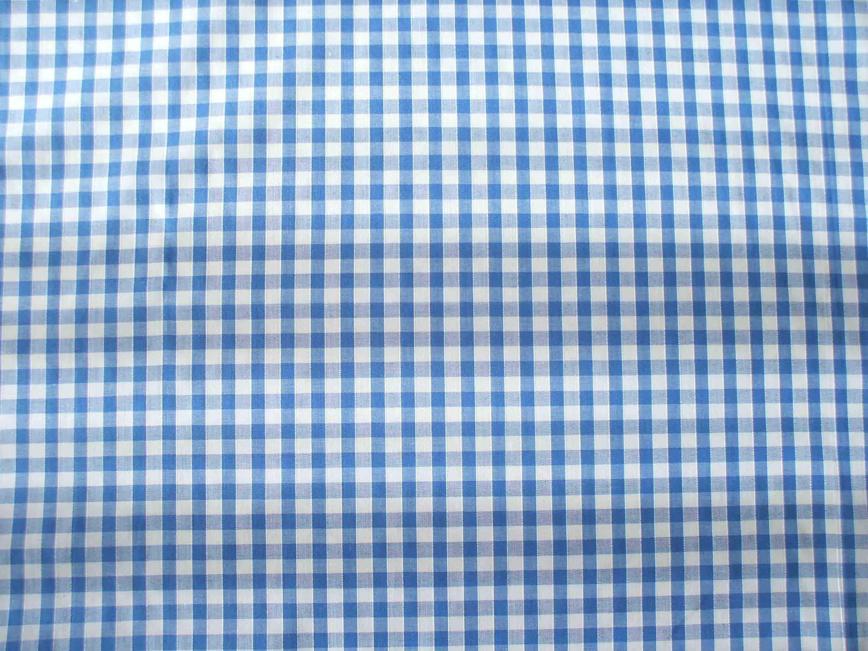 1 8 Gingham Quality Polycotton Fabric In Light Blue