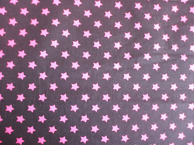 Star Pink And Black Black With 8mm Pink Stars 100