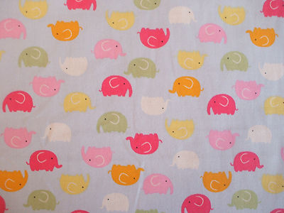 Elephant multi colour childrens fabric 100 cotton per 1 metre for Childrens fabric