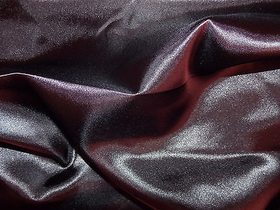 SILKY SATIN BLACK 100% POLYESTER SATIN FABRIC SOLD PER METRE
